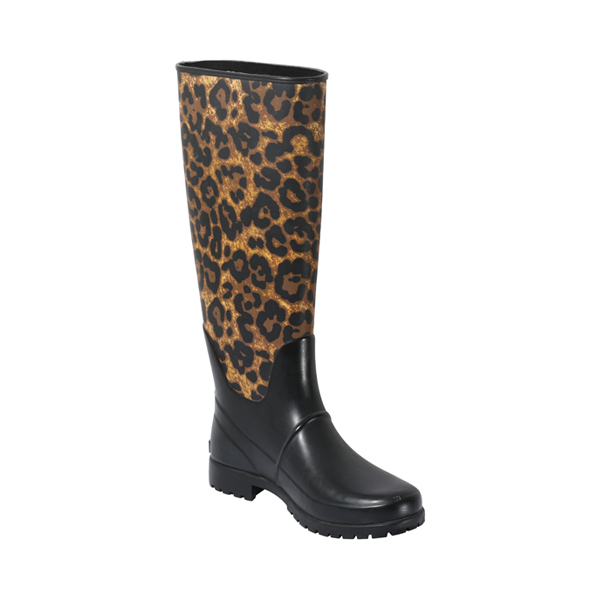 Printed Leopard Rubber Boot