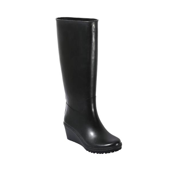 High Heeled Women's Rubber Welly Boot