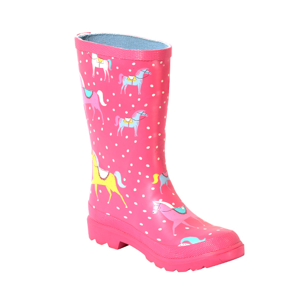 Rubber Rainboot With Print