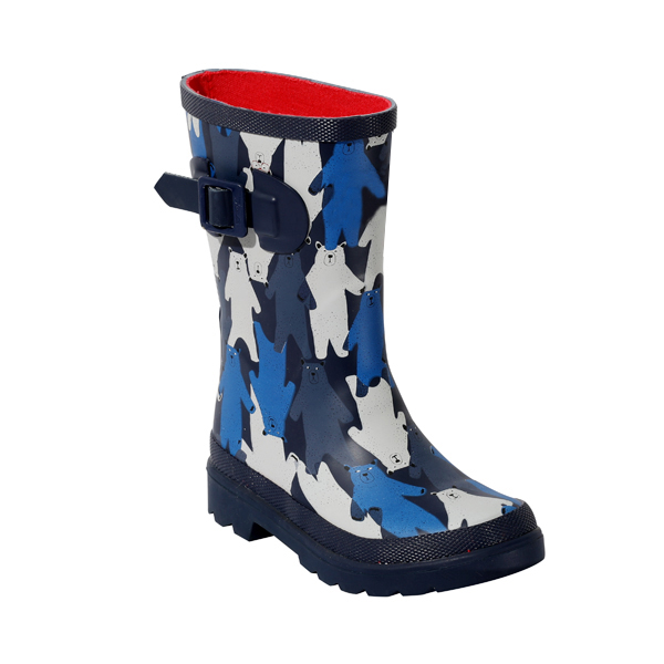 Boy's Welly With Designed Prints