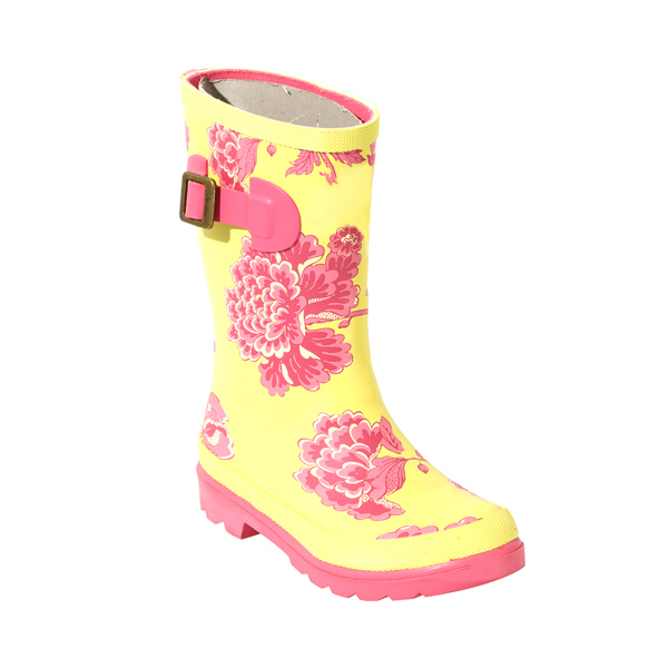 Floral Printed Rain Shoes For Girls