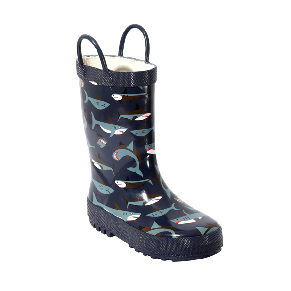 Printed Rubber Rain Shoes For Boys