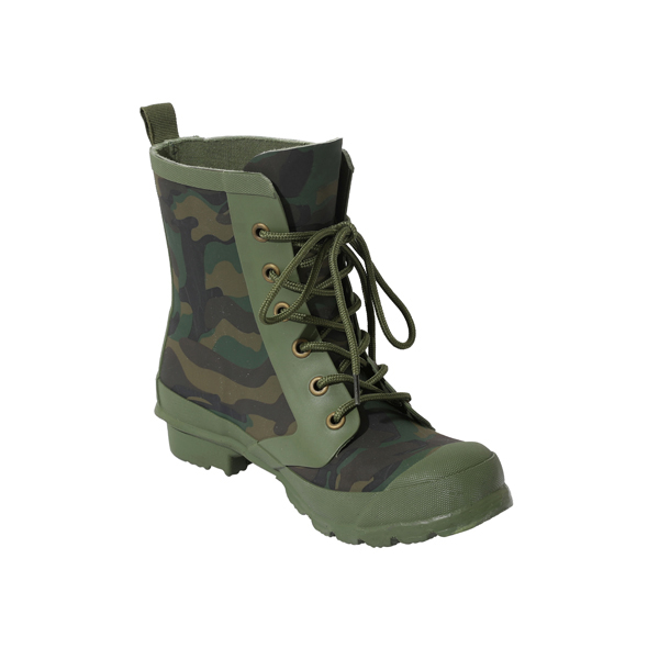 Women's Camo Print Rain Shoes