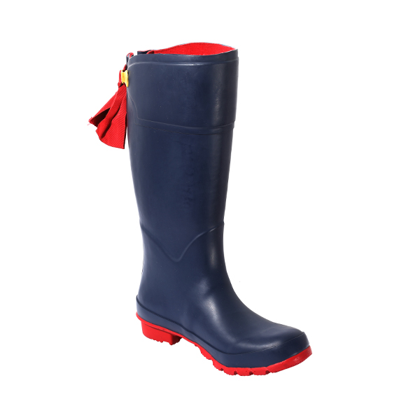 Women's Tall Rubber Boots With Bow Tie