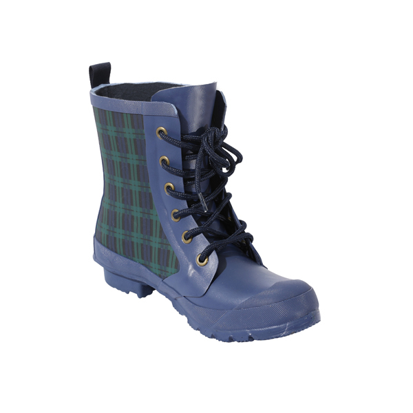 Laced Rubber Boots For Women With Prints
