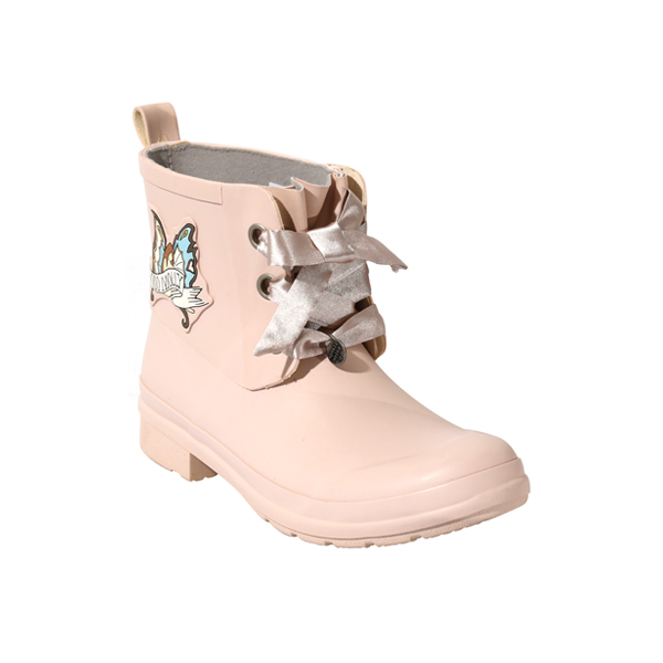 Fashion Laced Rubber Boots For Women