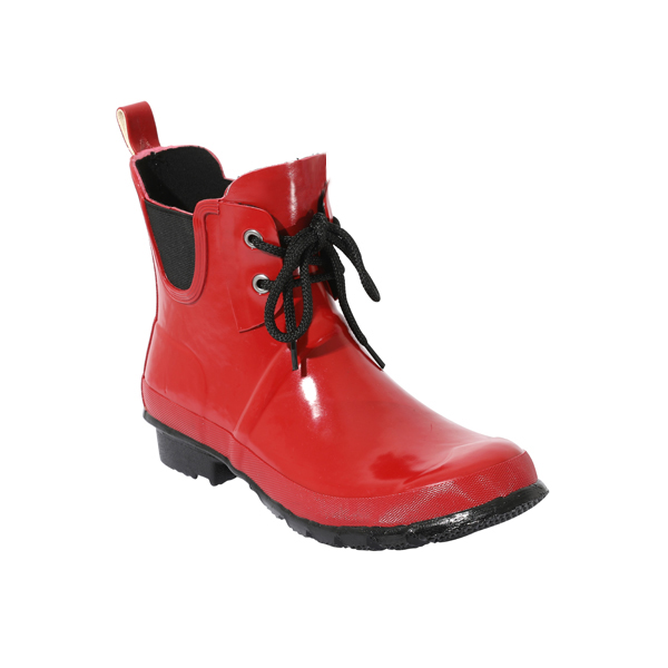 Waterproof Rain Boots In Red