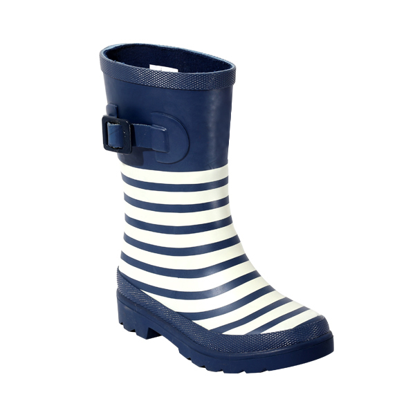 Striped Boy's Rainboot