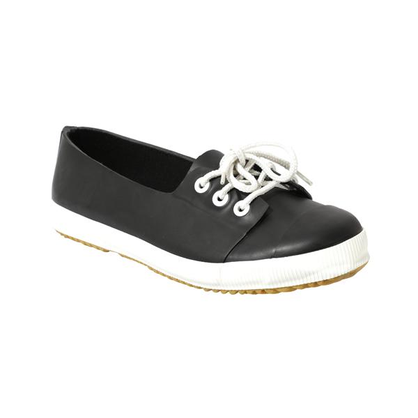 Black Rain Shoes With Laces