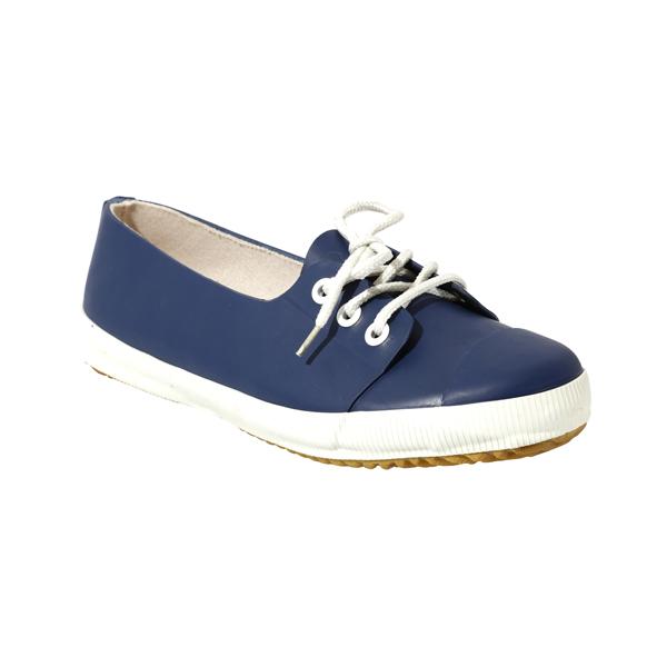 Blue Short Rubber Shoes With Laces
