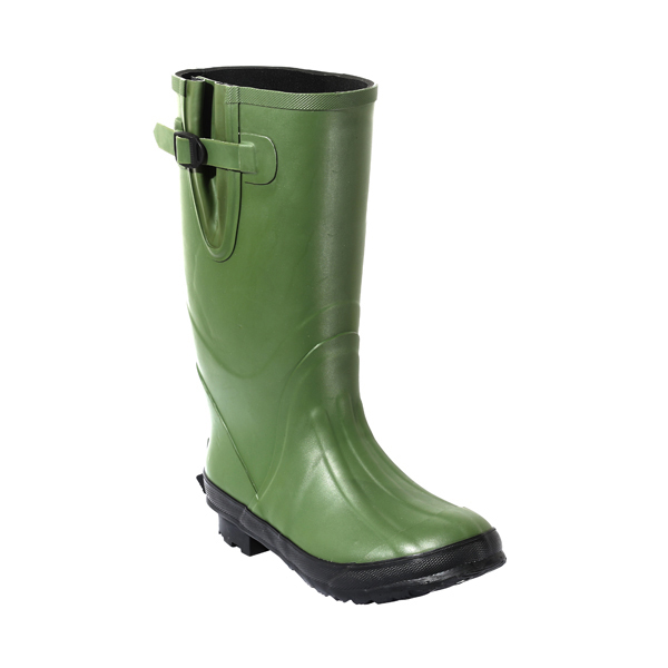 Mens's Rubber Working Boots In Green