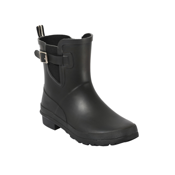 Women's Fashion Welly Boots In Black