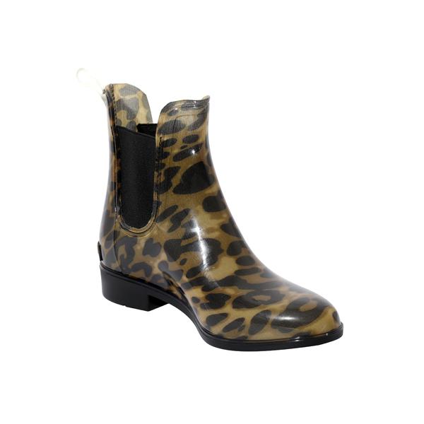 Leopard PVC Rainboot For Ladies