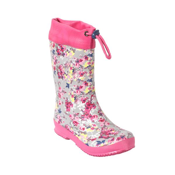 Girl's Rain Shoes With PU Collar