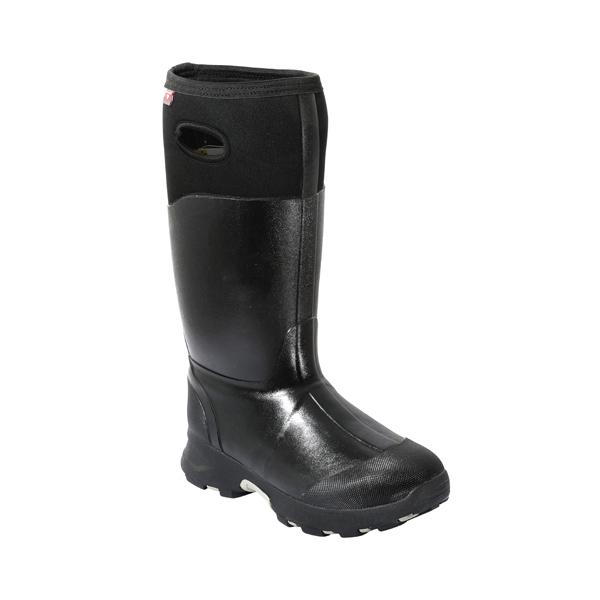 Black Neoprene Rubber Boots For Men