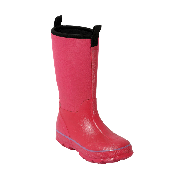 Pink Neoprene Rainboots with Pull Tab