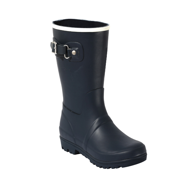 Solid Children's Rainboots With Side Buckles