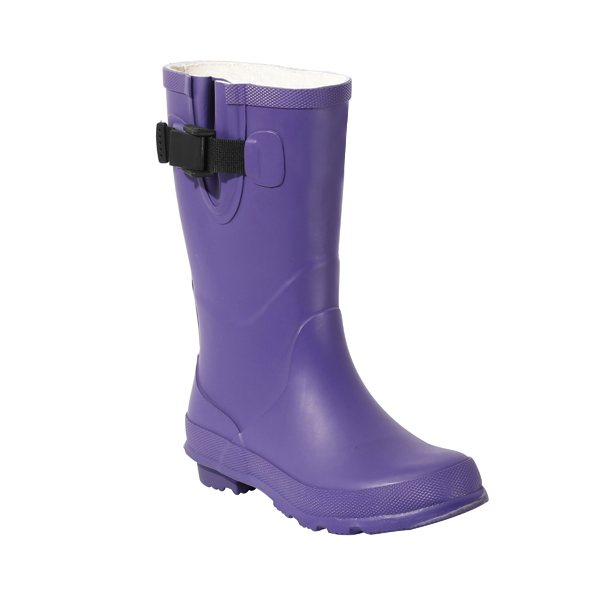 Medium High Rubber Boots With Buckles