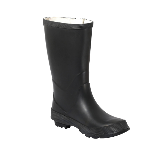 Black Rubber Rainboot For Female