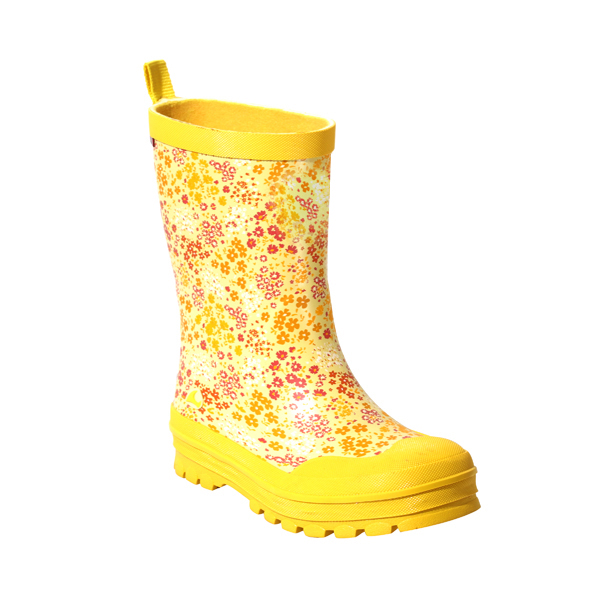 Girls's Rubber Wellies With Flower Print