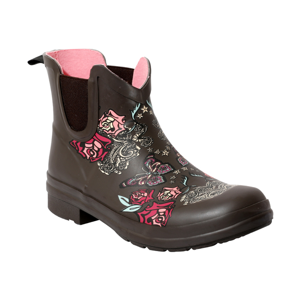 Women's Printed Chelsea Rubber Boots